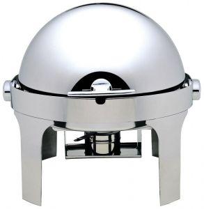CD6504  Chafing Dish Chauffe-plat ronde acier inox brillant Roll top 180°