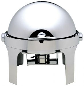 CD6504 Chafing dish tondo acciaio inox brillante Roll top 180°