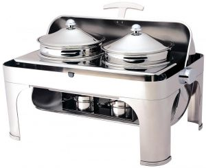 CD6505 Chafing dish acier inox 2 poelon 4,6 litres