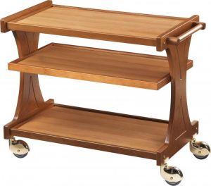 CL2150 Carrello servizio legno 3 piani 86x55x85h