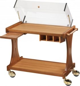 CL 2351 Service trolley for cakes cheese avec dome 106x55x95h