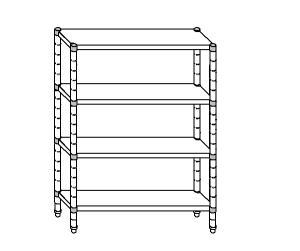 SC8200 shelf aluminized steel 130x50x180 cm