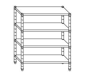 SC8293 shelf aluminized steel 80x40x200 cm