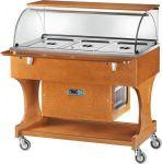 TCLR 2787BT Carrello legno refrigerato (-5°+5°C) 3x1/1GN cupola/pianetto