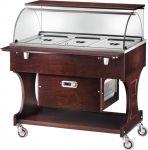 TCLR 2787W Carrello legno refrigerato (+2°+10°C) 3x1/1GN cupola/pianetto Wengé