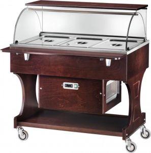 CLR2787NW Carrello legno refrigerato (+2°+10°C) 3x1/1GN cupola/pianetto Wengé
