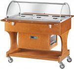 TCLR 2788BT Carrello in legno refrigerato (-5°+5°C) 3x1/1GN Cupola plx
