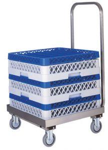 CP1445 Carrito porta cestas para lavavajillas de acero inoxidable con mango
