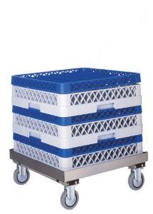 CP1446 Soporte porta cestas para lavavajillas 4 ruedas acero inox
