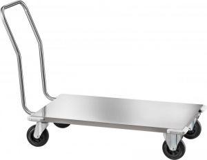 CPB1474 Chariot avec plateforme basse en acier inox