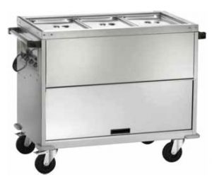 CT1771TD Carrello inox armadiato bagnomaria 3x1/1GN Temperatura differenziata