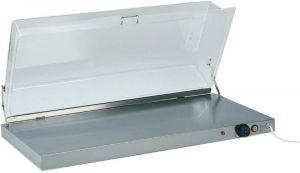 PCC4710 Stainless steel warming surface rectangular plexiglass cover 90x45x20h