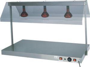 PCI4711 Piano caldo acciaio inox 1 lampada infrarossi 45x64x80h