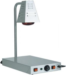 PCI4718 Stainless steel warming surface with infrared lamp 58x33x68h