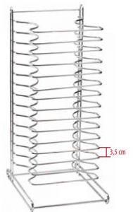 PT15 Porte-plaques de table acier inox (minimum 4 pièces)