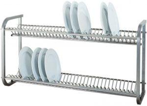 SP1397  Escurreplatos de pared de acero inoxidable 100x30x55h