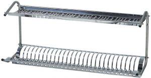 SPB1398 Escurreplatos/vasos a la pared de acero inox 80x26x37h