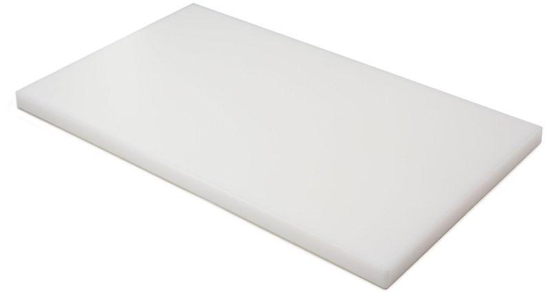 P50402 Planche à découper blanche en polyéthylène 50x40x2h