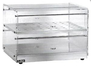 VBN4756 Neutral display-case 2 shelves 50x35x22h