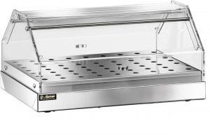 VBN4781 Vetrinetta neutra acciaio inox 1 piano 85x35x25h