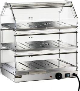 VBR4753 Warmed display case Stainless steel 3 shelves 50x35x54h