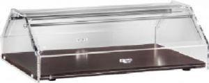 VL4749W Vitrina expositora neutra de brioches madera Cúpula de plexiglás 85x35x21h
