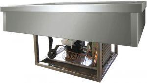 VRI411F Vasca acciaio inox refrigerata (-5º +5°C) da incasso 4x1/1GN 144x68x54,5h