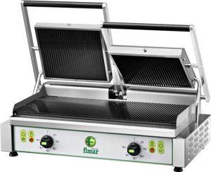 PE50RNT Trifásico 3400W placa de cocción de hierro fundido de doble hilera