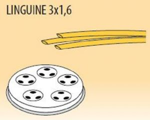 MPFTL3X16-25 Trafila LINGUINE 3x1,6 per macchina per pasta fresca