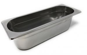 GST2/8P100 Gastronorm container 2/8 h100 in stainless steel AISI 304