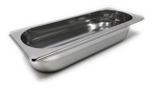 GST2/8P065 Gastronorm container 2/8 h65 in stainless steel AISI 304