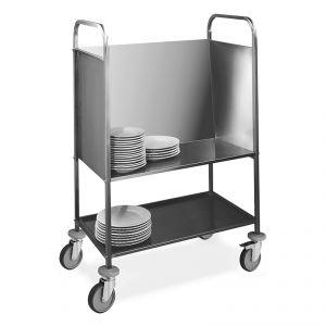 1272 Carro para platos apilados, capacidad 200 platos, estante de servicio