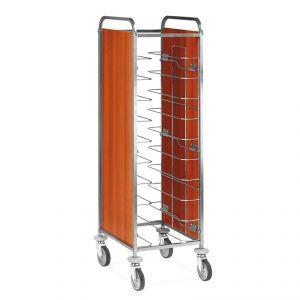 1470U-PN Carro bandeja universal, paneles laterales de melamina, 10 bandejas
