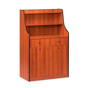1605 Mobile colore ciliegio, 2 tramogge, alzatina, 2 cassetti portaposate