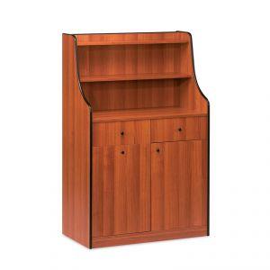 1606 Mobile colore ciliegio, 1 sportello, 1 tramoggia, alzatina, 2 cassetti portaposate