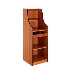 1616F Mobile colore rovere, 1 vano giorno, alzatina, 1 cassetto portaposate aperto