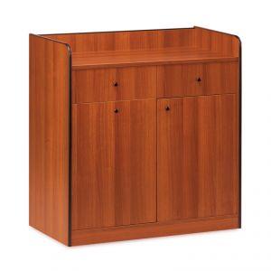 1626 Mobile colore ciliegio, 1 sportello, 1 tramoggia, 2 cassetti portaposate