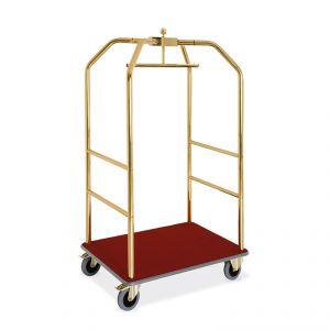Portabiti/portabagagli, ottonato, moquette bordeaux cm 108x76x189h