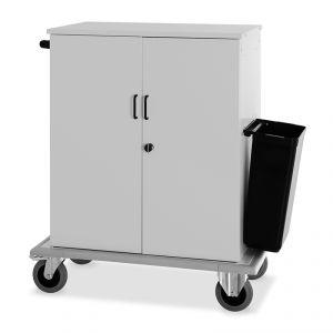 2012-F Carrello rifornimento minibar armadiato, sportelli, 2 ruote frenate