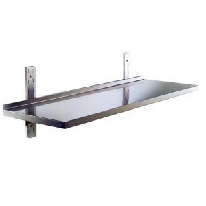 RI9000 - Ripiano liscio in acciaio inox AISI 304 con alzatina dim. cm. 60x30x4h
