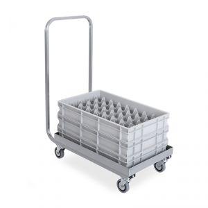 2202P Base con manico in acciaio inox per cestelli lavastoviglie cm 51x51