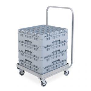2207P Base con asa de acero inoxidable para cajas 51X51X95H cm