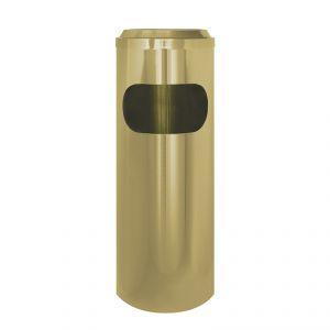 2512 Gettacarta/posacenere ottonato, coperchio a rete, Ø cm 25x69h