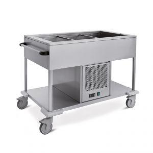 6962.3 Carrelli refrigeranti in acciaio inox GN 3/1