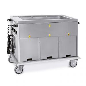 7365A3 Carrello termico GN 3/1 vasca unica 3 vani caldi