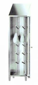 IN-696.03 Boot holder in AISI 304 stainless steel - dim. 50x50x215 H