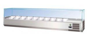 G-RI14033V - Vetrina portaingredienti refrigerata statica in acciaio inox per bacinelle gastronorm
