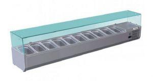 G-RI20033V - Vitrina refrigerada estática para pizzería 10 tazones capacidad