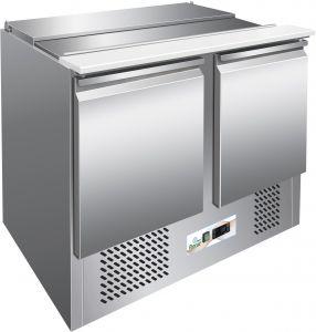 G-S902 - Saladette con refrigeración estática, estructura de acero inoxidable AISI304, termostato digital
