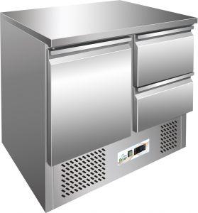 G-S901-2D  Saladette refrigerata, temp. +2/+8°C,  telaio inox AISI 304